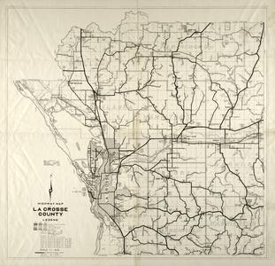 Highway map of La Crosse County