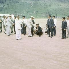 Prime Minister of Laos greets government officials