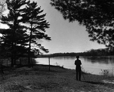 Estella Leopold at river