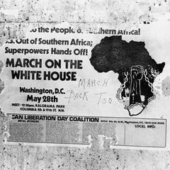 March on the White House sign