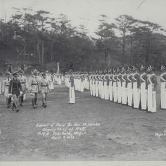 Escort of honor for General B. Valdes, Deputy Chief of Staff, Philippine Military Academy, Baguio