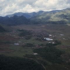 Hmong refugee site viewed from above