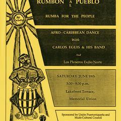 Poster Afro-Caribbean concert