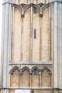 Peterborough Cathedral exterior west front northwest turret