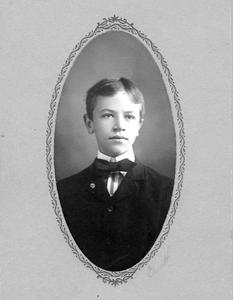 Small oval school portrait, Lawrenceville Academy, ca. 1902