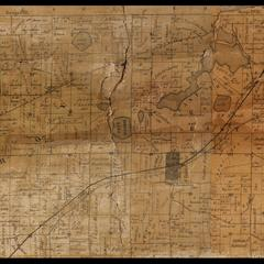Troy Township plat map, 1857