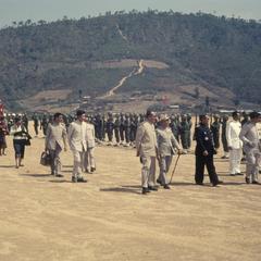 King Savang Vatthana with dignitaries