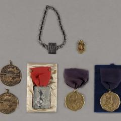 Various archery medals