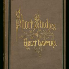 Short studies of great lawyers