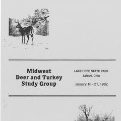 [Proceedings of the Midwest Deer and Turkey Study Group Annual Meeting, 1982]