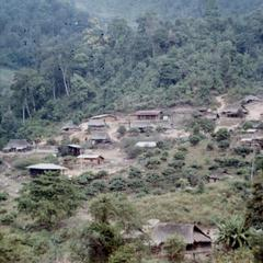 Blue Hmong (Hmong Njua) village in northern Thailand