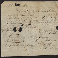 Bill addressed to V. [torn] Tuthill, from Thomas Richards