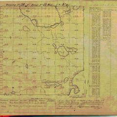 [Public Land Survey System map: Wisconsin Township 38 North, Range 13 West]