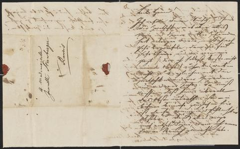 [Letter from Karl Baum or Bauer to Jeanette Sternberger, September 25, 1845]