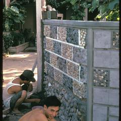 Constructing wall around a prosperous home