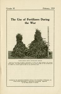 The use of fertilizers during the war