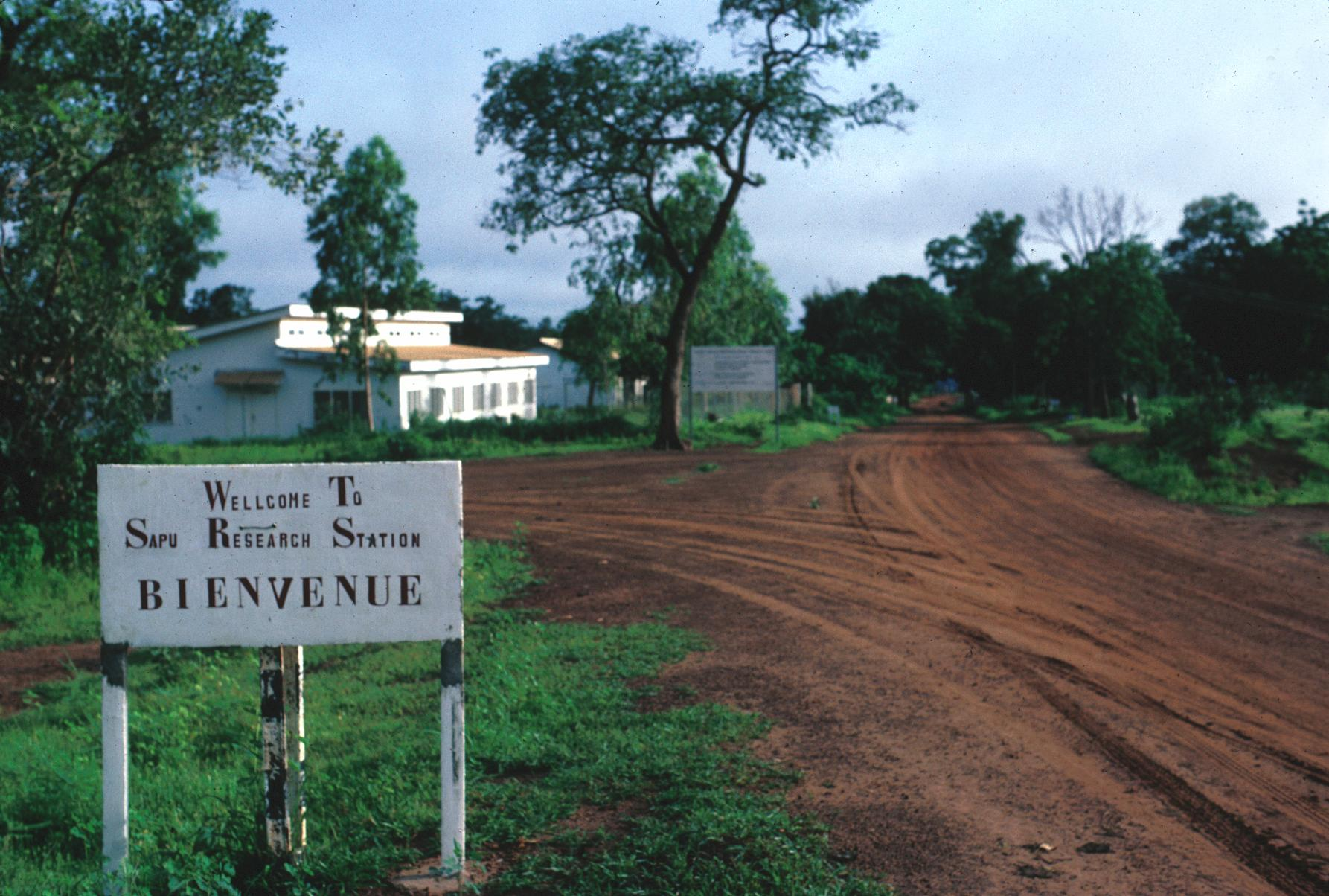 Welcome Sign at Entrance to Sapu Research Station