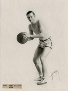 Basketball captain Fred Hakbarth