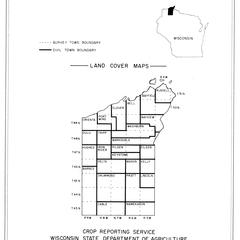 Bayfield County, Wisconsin, land cover maps