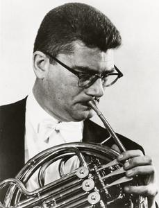 John Barrows with French horn