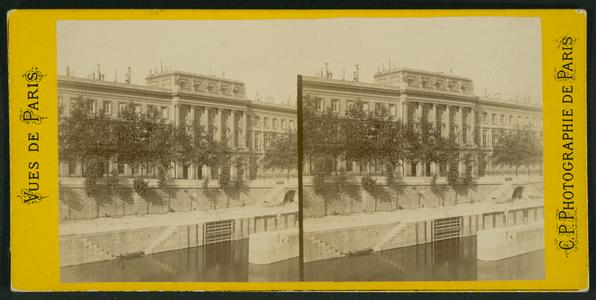 View of a portion of the buildings of the Mint on the margin of the River Seine : at Paris (France)