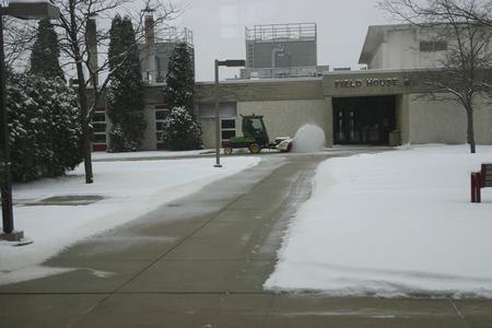 Clearing the sidewalks