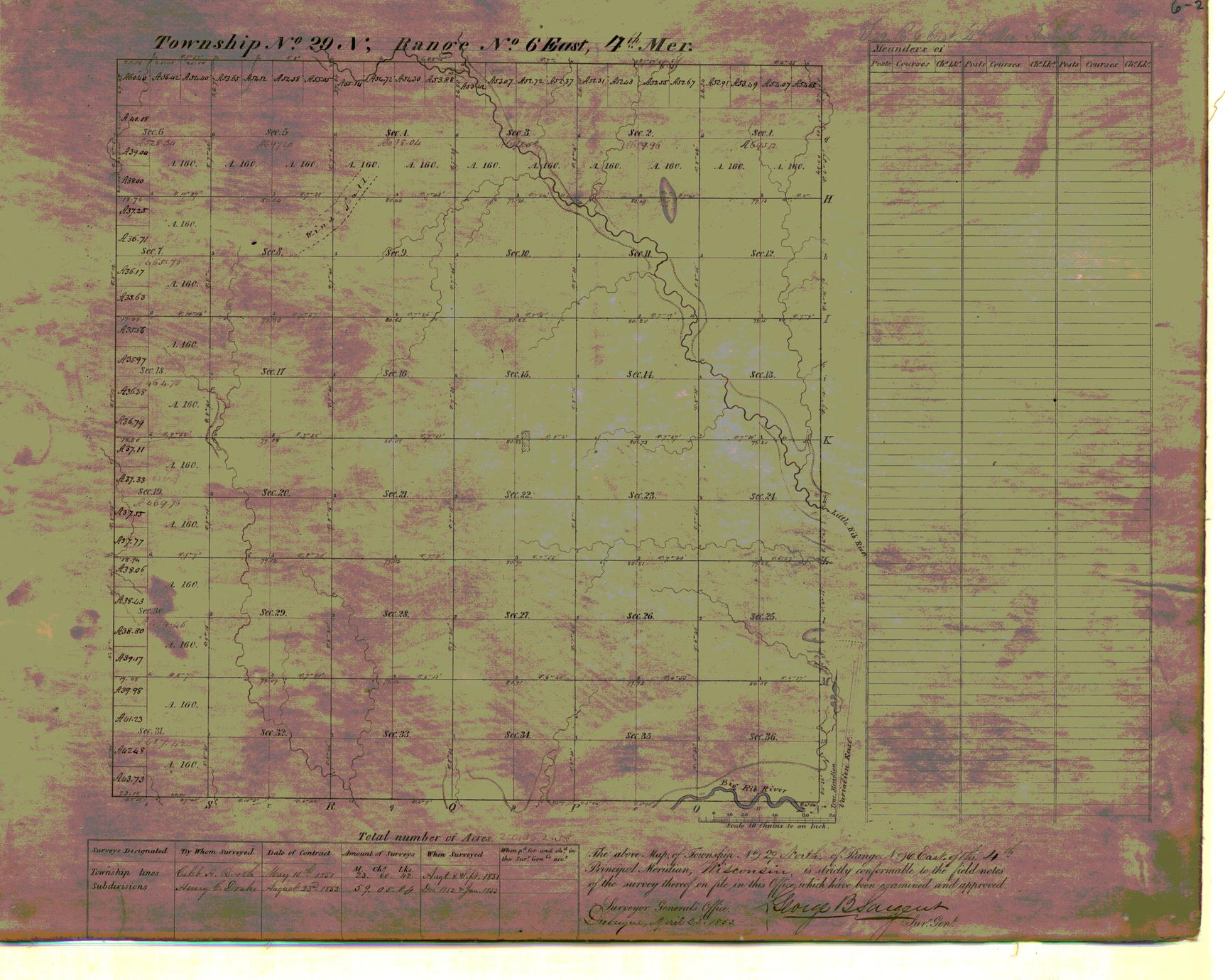 [Public Land Survey System map: Wisconsin Township 29 North, Range 06 East]