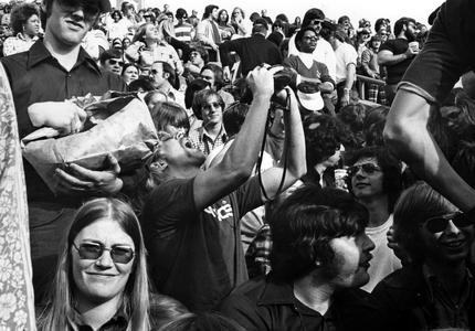 1974 Homecoming game crowd