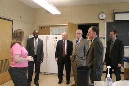 Science facilities tour, University of Wisconsin--Marshfield/Wood County, 2012
