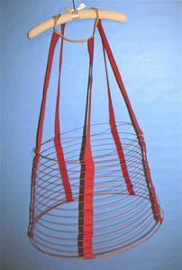 Red cage crinoline