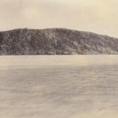 Devil's Lake west bluff from Kirkland shore