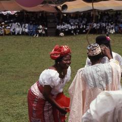 Mrs. Fatiregun dancing at Iloko Day