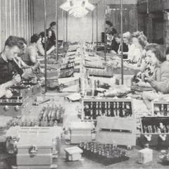 Paragon employees assembling equipment