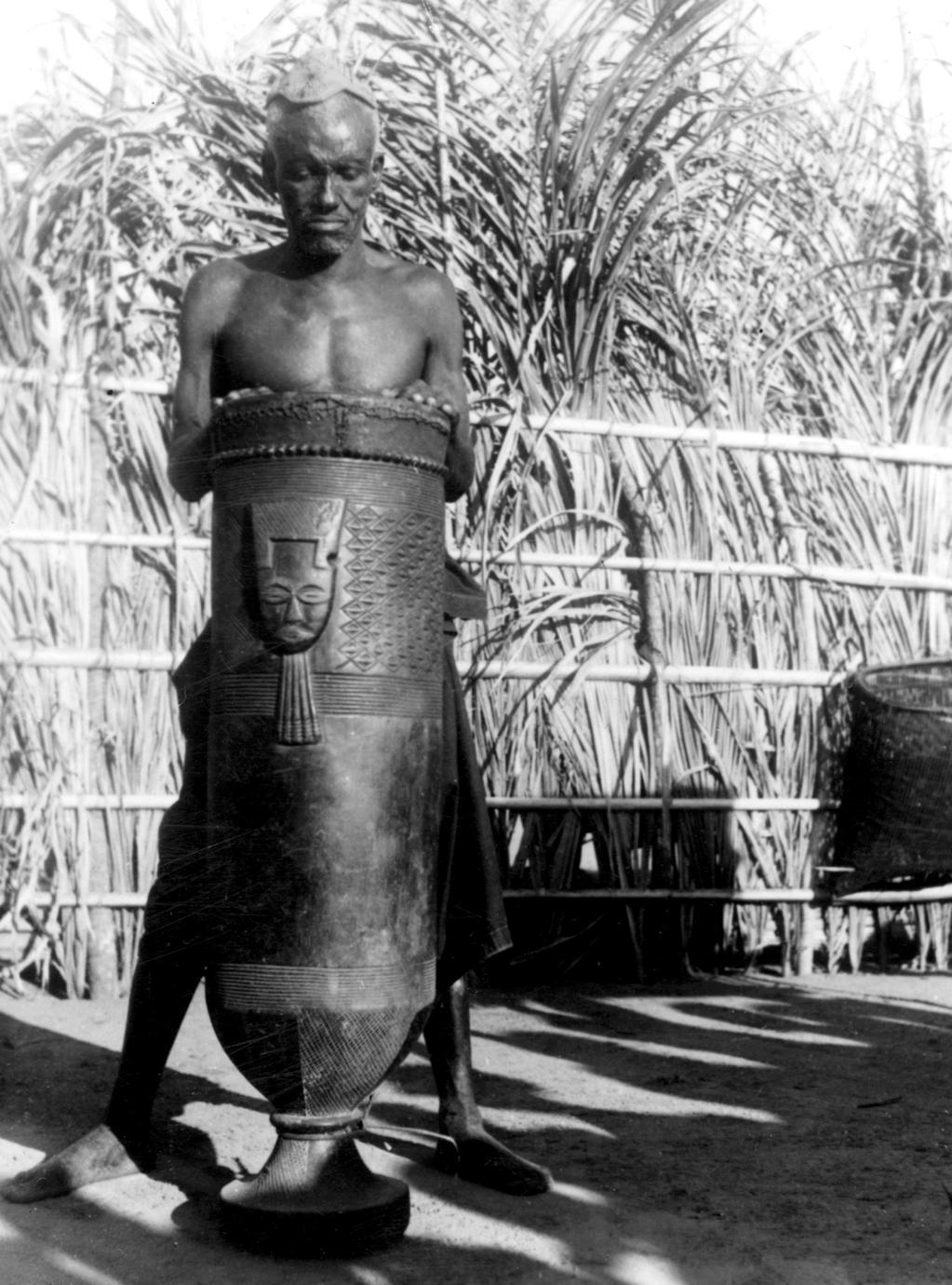 Shoom Drum Displayed by Kuba-Kayuweeng Village Title Holder