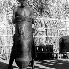 Shoom Drum Displayed by Kuba-Kayuweeng Village Title Holder