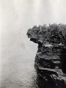 Sea caves at Devils Island lighthouse
