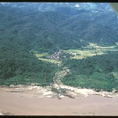 Town on Mekong River