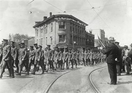 Departing troops