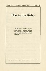 How to use barley