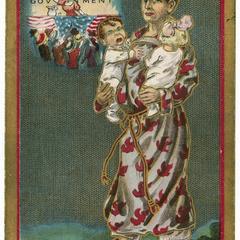 Wandering wife, Suffragette Series postcard