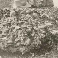 Conglomerate on bluff at Baraboo Narrows