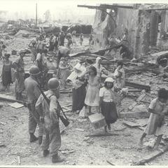 Refugees from Walled City of Manila, 1945