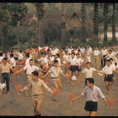 School children rehearsing for palace New Year's party