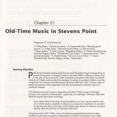 Old-time music in Stevens Point