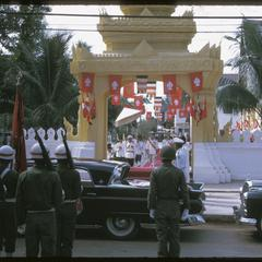 Vat Ong Tu oath taking ceremony--departure by rank order--departure of king