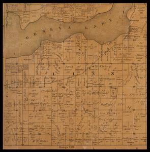 Linn Township plat map, 1857