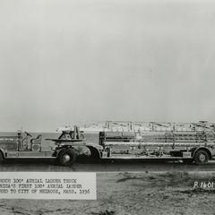 The first 100-foot aerial ladder truck