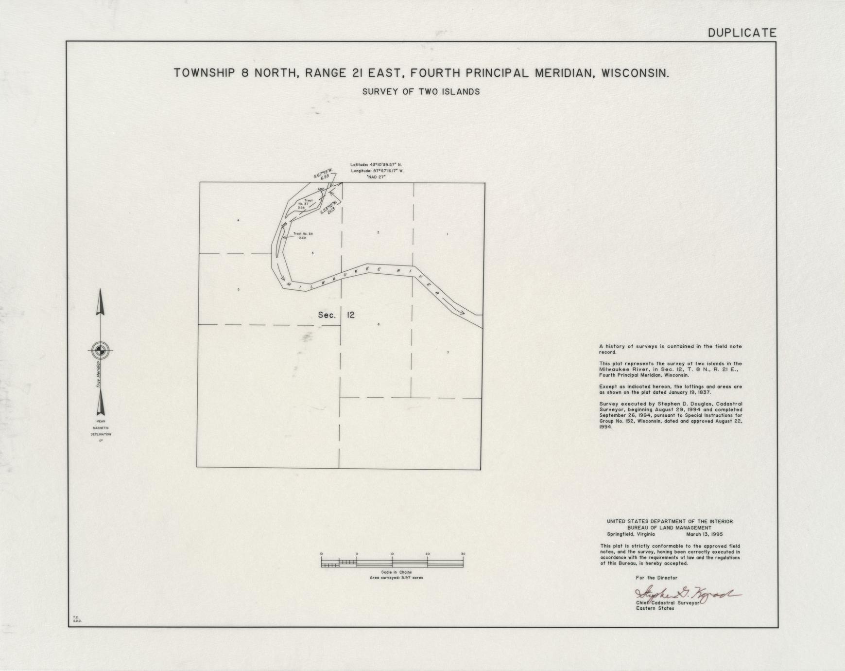[Public Land Survey System map: Wisconsin Township 08 North, Range 21 East]