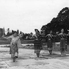 Traditional dancers, That Luang, Laos