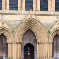 Ripon Cathedral exterior west portals